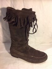 KIT Brown Mid Calf Suede Boots Size 5