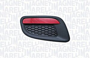MAGNETI MARELLI Bumper Cover Black Left Rear For FIAT 500 C 735577625