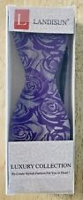 NIB Landisun Luxury Collection Silk Bowtie Pattern 16A93 Purple Grey SHIPS FREE!