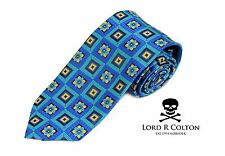 Lord R Colton Masterworks Tie Plug In Baby London Blue Silk XL Necktie $195 New