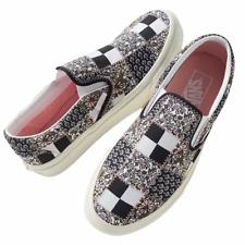 Vans Classic Slip On (Patchwork Floral) White Black Shoes Sz 9.5 Women's NIB ⭐️