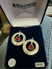 Montana silversmith jewelry earrings Mighty Flame Red
