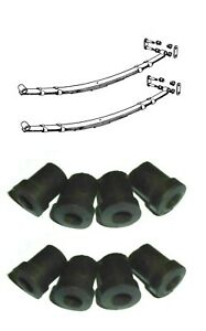 (x8) MG B MGB    Rear Suspension Spring Shackle Bushes Bush Kit     (1962- 80)