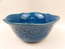 French Perle-Marine Blue by Lenox Cereal Bowl Embossed Bead Scroll BRAND NEW