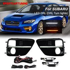 Switchback Bezel Filler Trim LED DRL Daytime Running Light For Subaru WRX STI