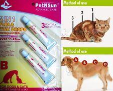 USA PetNSun Kills Fleas, Flea Eggs & Ticks Drops For Dogs And Cats 11-20kg