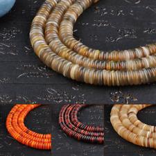 Tibetan Style Natural Oxen Bone Hand Grinding 100 Flat Beads Fashion Bracelet