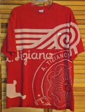 "A.TIZIANO MEN'S T-SHIRT RED ""A.TIZIANO"" AND ""AT"" EMBROIDERED RABBIT"