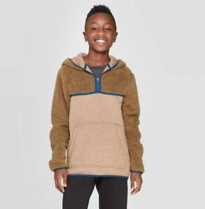 Boys' Half Zip Sherpa Fleece Hoodie - C9 Champion