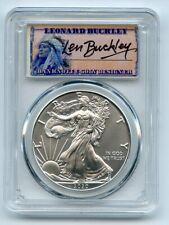 2020 (P) $1 Silver Eagle Emergency Issue PCGS MS70 FDOI Leonard Buckley
