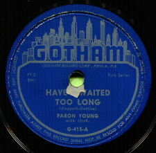 FARON YOUNG (Have I Waited Too Long / You're Just) CLASSIC COUNTRY 78 RPM RECORD