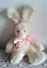 "Sugar Puff 12"" Russ Berrie Bunny Soft Toy Plush Beanie Comforter Machine Wash EX"