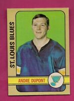 1972-73 OPC # 16 BLUES ANDRE THE MOOSE DUPONT  ROOKIE GOOD CARD (INV# A5361)