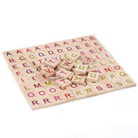 100X wooden scrabble tiles colorful letters number for crafts wood alphabet  PY