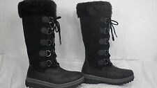 Abound 'Lynx' Black Leather Faux Fur Trim Tall Winter Boot Women Size 6 M