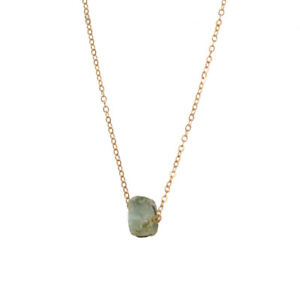 Gold Chain Natural Geometric Stone Crystal Charm Necklace Collar Jewellery