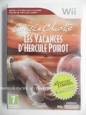 Jeu AGATHA CHRISTIE LES VACANCES D'HERCULES POIROT nintendo WII en francais PAL