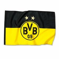 "BVB Fahne Borussia Dortmund ""EMBLEM"" 2 Sterne, 60 x 90 NEU"