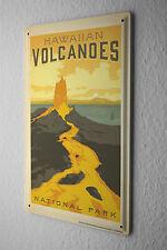 Tin Sign World Tour  Hawaii Volcano National Park Metal Plate