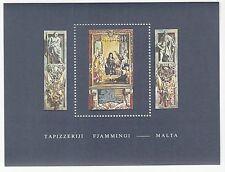 Malta Block 6 postfrisch Flämische Wandteppiche