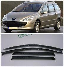 For Peugeot 307 Wagon 2002-2008 Side Window Visors Rain Guard Vent Deflectors