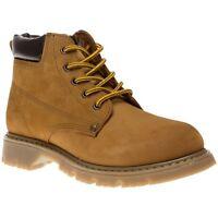 Boys Oaktrak Newland Tan Honey Nubuck Lace Up Ankle Boots Sizes UK 1 - 6