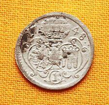 Medieval Austrian Coin -  Silver Kreuzer, 1748.