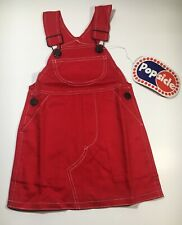 Vintage Popsicle Playwear Girls Red Overall Skirt Jumper Size 2T NWT Rare