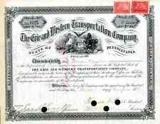 1881 Erie & Western Transportation Co. Stock Certificate