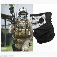 5Pcs Skeleton Ghost Skull Face Mask Biker Balaclava Headband Scarf CS Cycling *