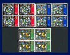 1971 SG894-896 2½p-7½p Christmas Set Blocks of 4 MNH aigh
