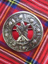 """NEW Large Scottish Saint Andrew Brooch for Kilt Fly/Piper Plaid 3"""" Diameter"""