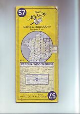 carte michelin routiere : verdun - wissembourg   numero 57 - au 200 000e