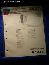 Sony Service Manual TCS 30D Cassette Corder  (#5029)