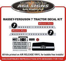MASSEY FERGUSON 7 GARDEN TRACTOR DECAL SET, reproduction   8