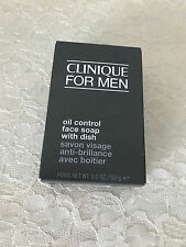 NIB Clinique For Men Oil Control Face Soap With Dish 5.2oz/150g NEW Fresh