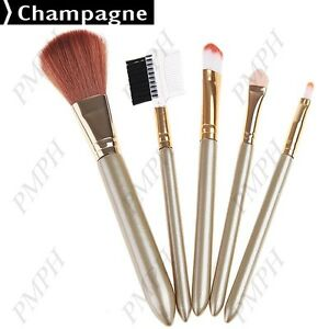 5 pieces cosmetic brushes kit set facial care item kit set Champagne color