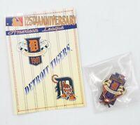 1994 Detroit Tigers American League Baseball Lapel Hat Pin Pinback & Info Card
