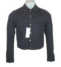 New Men's Authentic Superfine Trip Classic Denim Jacket RRP£170 Small Black