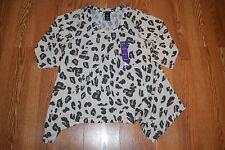 NWT Womens PREMISE Tunic Shirt Dress Tan Brown Leopard Print Size XXL 2XL
