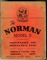 NORMAN Mod D MOTORCYCLE ORIGINAL OWNERS  HANDBOOK 1950