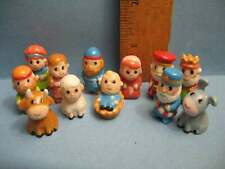 NATIVITY SET  Santons 12 pcs Youth Kids French Feve Feves Porcelain  Miniatures