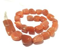 """1 Strand Natural Peach Moonstone Nugget Smooth 7x12-12x17mm Tumble beads 13""""Inch"""