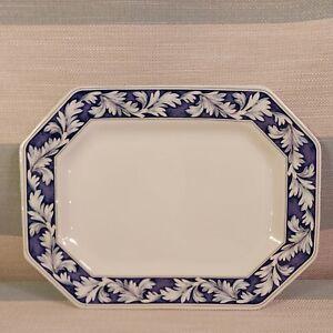 """WEDGWOOD OF ETRURIA & BARLASTON BLUE LAUREL SERVING PLATTER 12""""  MEAT PLATTER"""