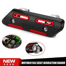 Motorcycle Exhaust Muffler Pipe Heat Shield Cover Heel Guard Red Anti-Scalding