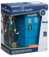 """Doctor Who - Third Doctor & TARDIS 5"""" Action Figure Set-CHA07228-CHARACTER GROUP"""
