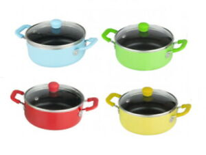 Mini Casserole With Lid Non-Stick 14cm Aluminium Casserole Dish Pot Small
