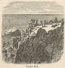C8300 Land's End - Bolerium Promontorium - Stampa antica - 1892 Engraving