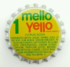MELLO YELLO Unused Bottle Cap 1980's Coca-Cola Leed Lemonade