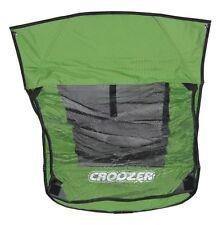 Copertura 2 in 1 Verde Per Rimorchio Per Bambini Croozer Kid for 2 modello 2010-2012 NUOVO